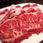 小肥羊  - 特選黒毛和牛ロース(120g) 1,980円