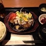 はなの舞 - 南国ハンバーグ定食(ランチ:600円)
