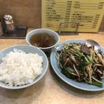 131510534 - レバニラ炒め+ライス+スープ