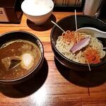 魔乃巣 - カレーつけ麺+ライス