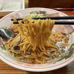 中華そば 白華楼 - 中太麺