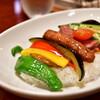 天馬 - 料理写真:たっぷり夏野菜のWソースカレー 〜ビーフ&キーマ〜@1,050円