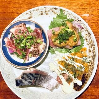 豊洲直送鮮魚の「がっ天盛り」