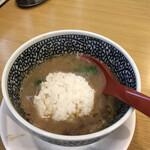 セアブラノ神 - スープ割と締め飯をぶっ込んで即席肉出汁雑炊に