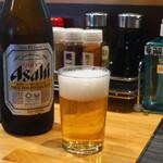 一喜 - アサヒスーパードライ中瓶