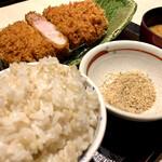 山かつ - 料理写真:あじ豚ロースカツ定食