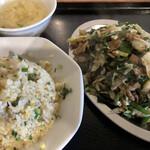 大衆中華炎 - 料理写真:ニラ豚&チャーハン