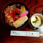 うな藤 - 特海鮮丼(税抜1600円)