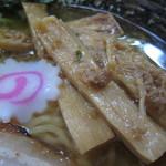 麺屋 猪貴 - シナチクUP