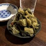 おうちあそび - 料理写真:*広島菜漬トリプル(¥750) (※3人前を一皿に盛ってもらったもの)