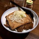 おうちあそび - 料理写真:*もつ煮+めし(¥700) +トッピング きつね(¥80)