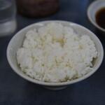 だるまの天ぷら定食 - 御飯中