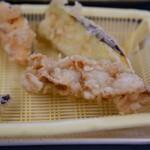 だるまの天ぷら定食 - ホタテ
