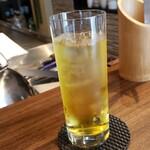 TEPPAN YARO - セットの冷たいジャスミン茶です。