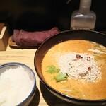 麺屋 百式 - 料理写真:坦々麺、小ライス店頭