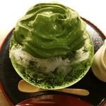 茶々助 - 抹茶クリーム氷(西尾)