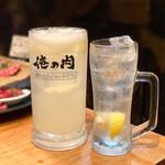 kandayakinikuorenoniku - ギガ生絞りグレープフルーツサワーと生レモンサワー