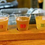 クラフトビアバル IBREW - 3種飲み比べは90ml×3種