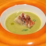 Convivio - 本日の朝かな料理 ジェノバ風  今日の魚はアコウダイでした