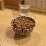 山崎麺二郎 - チャーシューごはん 200円