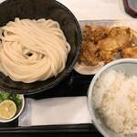 131578220 - ランチ から揚げセット 800円+麺中盛り100円
