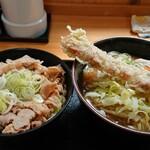 麺'ズ 冨士山 - かけうどん、肉ご飯セット