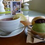 サンチェ - デザート 抹茶最中アイス