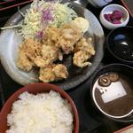 日本料理 黒潮 - 唐揚げ定食 ¥680(税別)