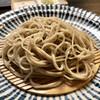 蕎澤 - 料理写真:粗挽き細打ちアップ