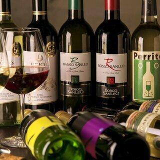 チリやアルゼンチン、ブルガリアなど新世界の厳選ワインをご用意
