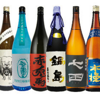 厳選焼酎、日本酒が40種類以上!飲み放題も有ります。♪