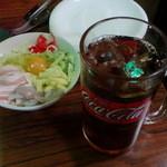 すずめ - ミックス天+ウーロン茶