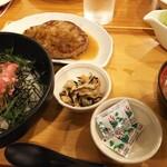 ココス - マグロたたき丼&ハンバーグ♪