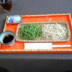 蕎遊庵 - 桜海老、抹茶変わり蕎麦合盛り