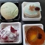 和菓子司いづみや - アマビエ、濡れ燕、蛍火、紫陽花、