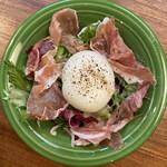 131596413 - 生ハムと半熟卵のサラダ