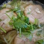 和合餃子 - 叉焼刀削麺アップ