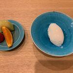 日本料理 e. - 【ヨーグルトアイスと果物】♫2020/05