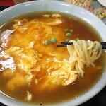 盧山 - 天津メン+食べかけの五目チャーハン