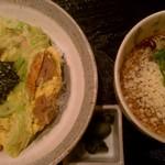 みやび - 親子丼+冷たいおそば(1100円)