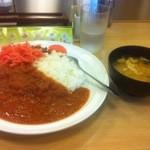 松屋 - フレッシュトマトカレー+紅しょうが