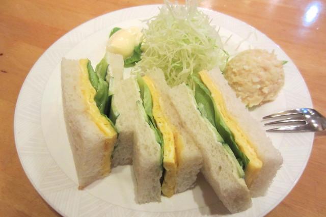 喫茶 サンド - モーニングサンド(珈琲付き)¥530