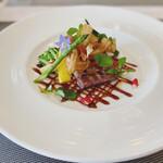 French + ちょっぴりのJapanese Essenceを添えて LaChic - イベリコ豚と野菜のグリル