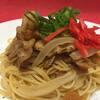 Tsuji家 - 料理写真:ローストポークのしょうが焼きペペロンチーノ
