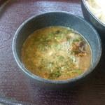 麦庵 - 肉汁アップ