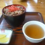 麦庵 - ミニ牛丼