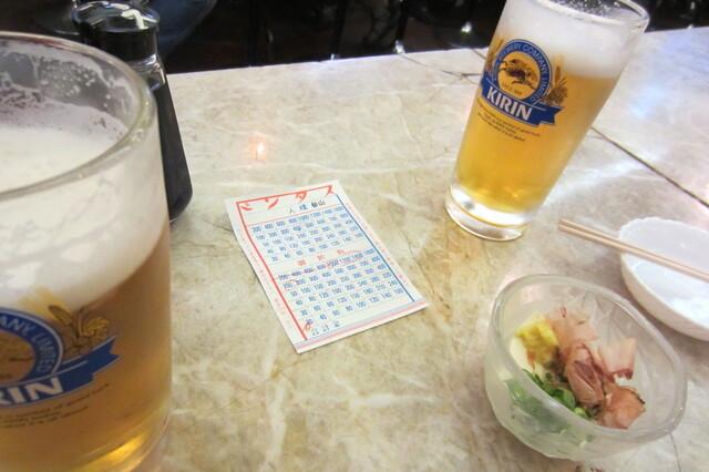 京極スタンド - ビールセット¥1000、生中¥520