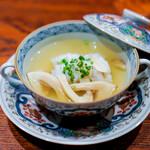 にしぶち飯店 - 松茸と鱧のスープ