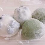 水車 - 料理写真:黒豆大福、草餅