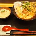 鯛担麺専門店 抱きしめ鯛 - 鯛担麺ランチセット